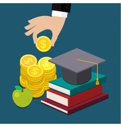 Invest in education concept vector