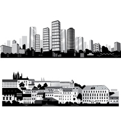 Best city silhouettes vector