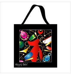 Shopping bag design with woman jewelry vector