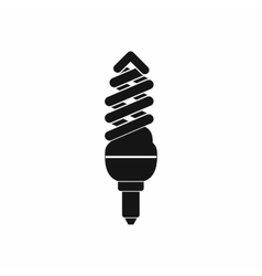 Fluorescent bulb icon simple style vector