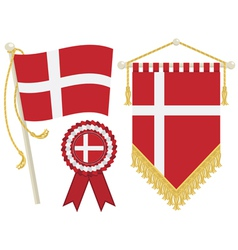 Denmark flags vector