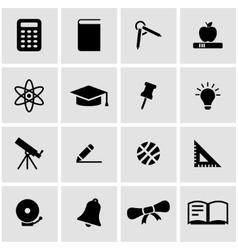 black education icon set vector image