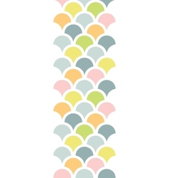 Abstract colorful fishscale vertical seamless vector