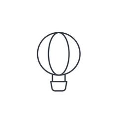 Air balloon thin line icon linear symbol vector
