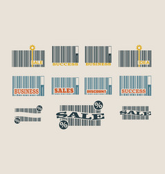 Bar code collection vector