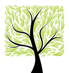 beautiful art tree vector image