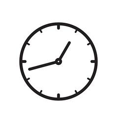 Black icon of Clock vector image vector image