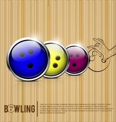 Bowling balls bowling alley vector