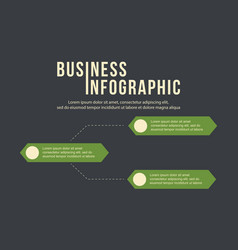 Business infographic step label data vector