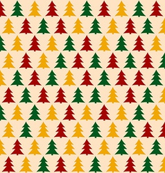 Christmass Pattern with Pines Seamless Background vector image vector image