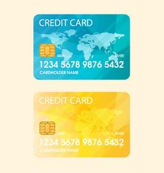credit card flat vector image vector image