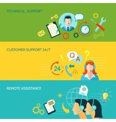 Customer support and technical assistance vector