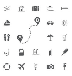 distance solid icon navigation and route map vector image vector image