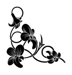 floral corner vector image vector image