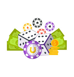 gambling concept flat style vector image vector image