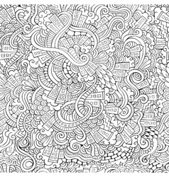 Hand drawn town seamless pattern vector