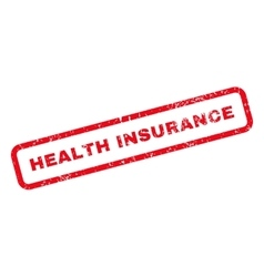 Health insurance text rubber stamp vector