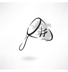 Hoop-net grunge icon vector