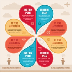 Infographic Concept - Creative Scheme vector image vector image