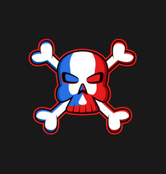 Jolly roger logo skull with crossbones vector