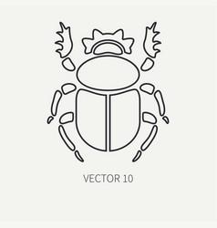 Line flat plain wildlife fauna icon bug vector