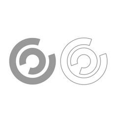 load icon grey set vector image vector image