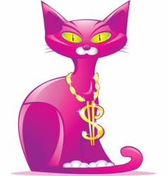 money cat vector image vector image