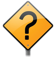 Question Mark Sign vector image vector image