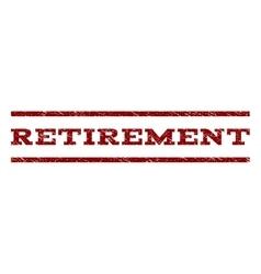 Retirement watermark stamp vector