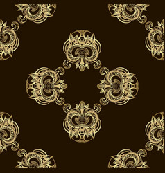 Seamless luxury golden pattern vector