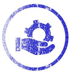 Service grunge textured icon vector