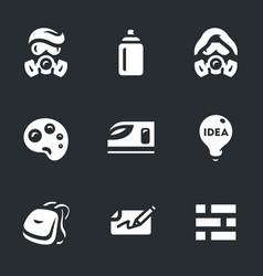 Set of street painting icons vector