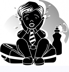 Silhouettes of boy vector