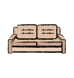 Sofa furniture comfort seat pillow decoration vector