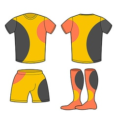Sports football clothing set T-shirt shorts and vector image