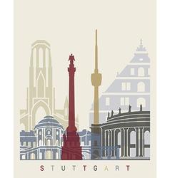 Stuttgart skyline poster vector image