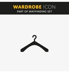 The hanger icon coat rack symbol vector
