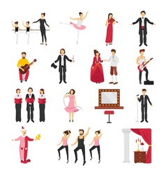 Theatre People Set vector image