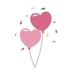 Wedding balloons romantic party decoration vector