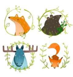 Wild forest animals set vector