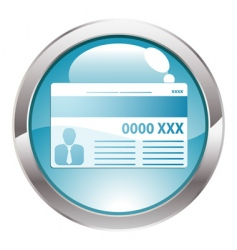 Gloss button with credit card vector