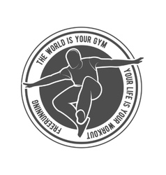 Parkour and free running badge vector