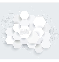 Abstract geometric shape from gray hexagones vector