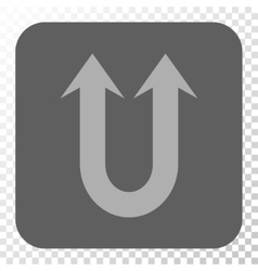Double forward arrow rounded square button vector