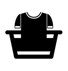 Laundry water indicator with shirt icon vector