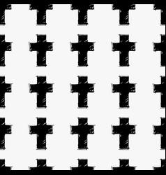 Crosses seamless pattern vector