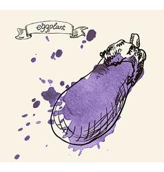 Eggplant sketch vector