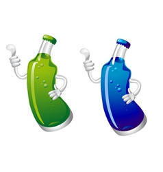 Cola or sods drink bottle in cartoon style isolate vector