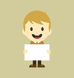 Man with blank sign vector