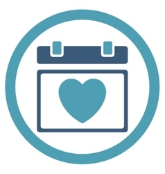Lovely binder date icon vector